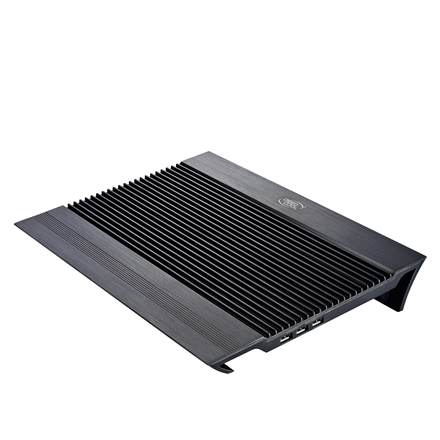 "deepcool N8 black Notebook cooler up to 17"" 	1244g g, 380X278X55mm mm"