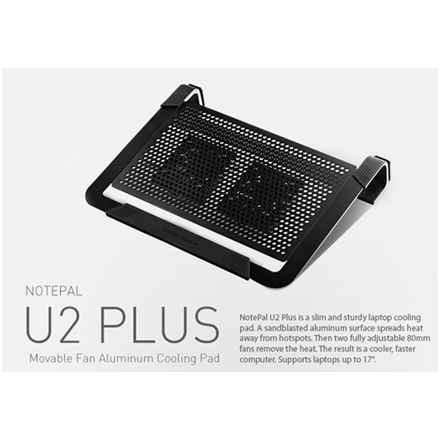 Cooler Master Notepal U2 Plus Notebook cooler up to 17""