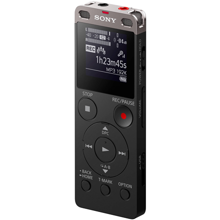 Sony ICD-UX560 Black, MP3 playback, Digital Voice Recorder with Built-in USB,
