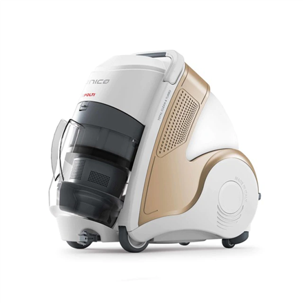 Polti Multifunction vacuum cleaner Unico MCV85_Total Clean & Turbo Bagless, Washing function, Wet suction, Power 2200 W, Dust capacity 0.8 L, White/Bronze