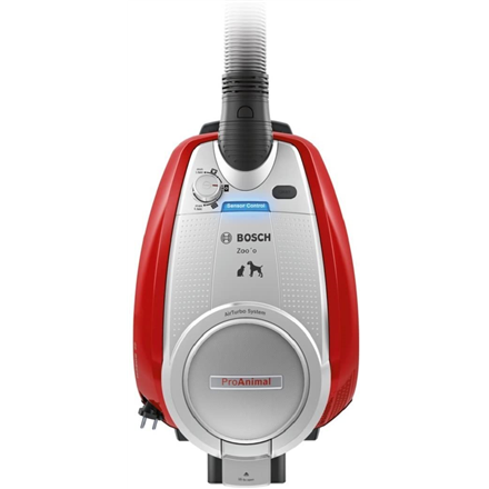 Bosch Vacuum cleaner ProAnimal BGS5335 Bagless, Dry cleaning, Power 800 W, Dust capacity 3 L, 74 dB, Silver/Red